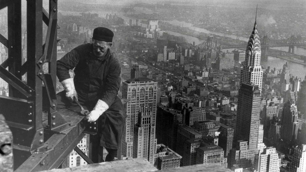 Empire State Building Construction Fists And 45s