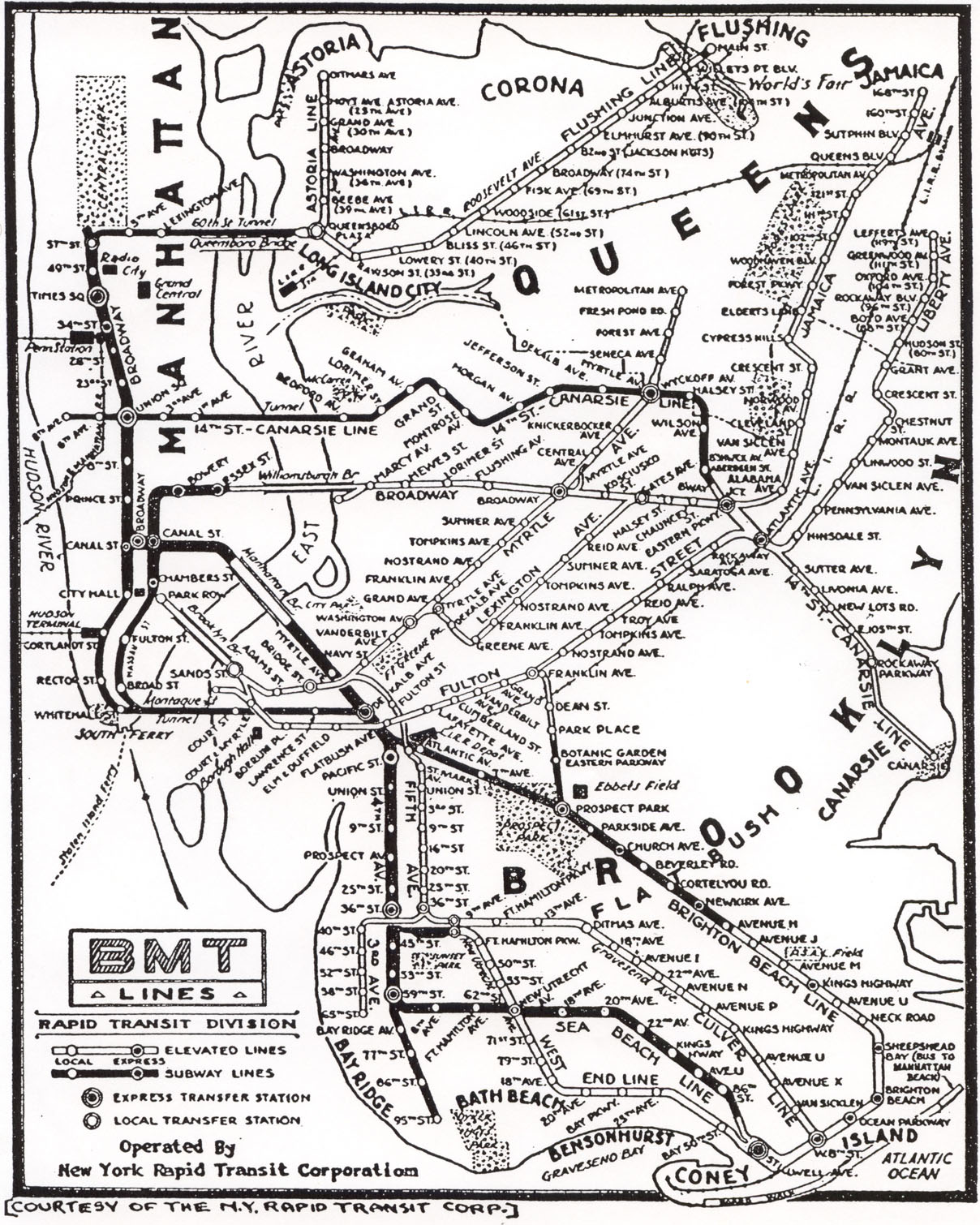 Subway Map Before 1933.Dirty 30s The Big Apple